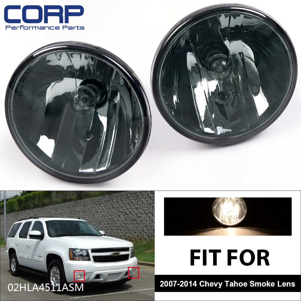 Smoked Fog Lights For 2007-2014 CHEVY Tahoe Avalanche Suburban GMC With Bulbs