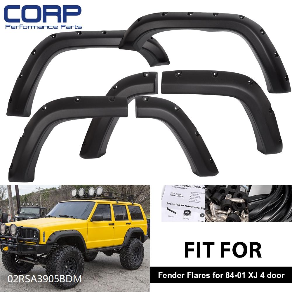 For Jeep Cherokee Xj 4 Door 84 01 Pocket Rivet Off Road Wheel Wide Fender Flares Ebay